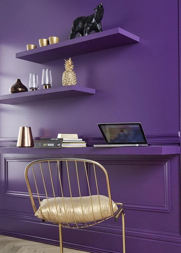 El violeta es el color de moda en decoración del hogar