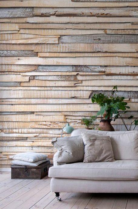 La textura en las paredes es otro de los elementos que están de moda en decoración