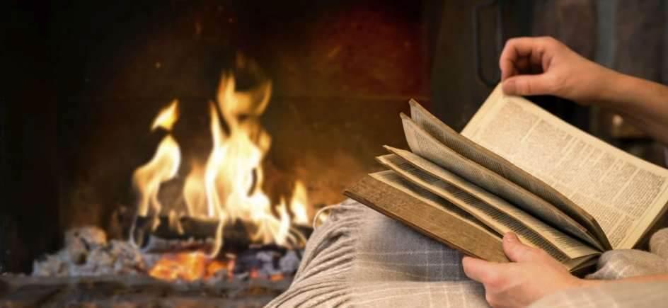 Descubre tu rincón de lectura ideal en la chimenea