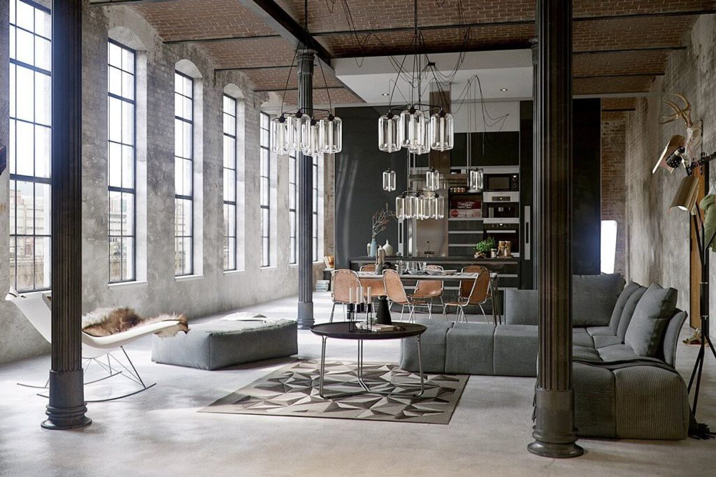 La decoración industrial es tendencia en la arquitectura