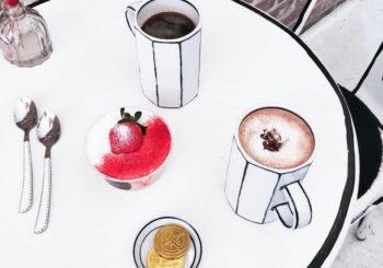 La comida del café cómic