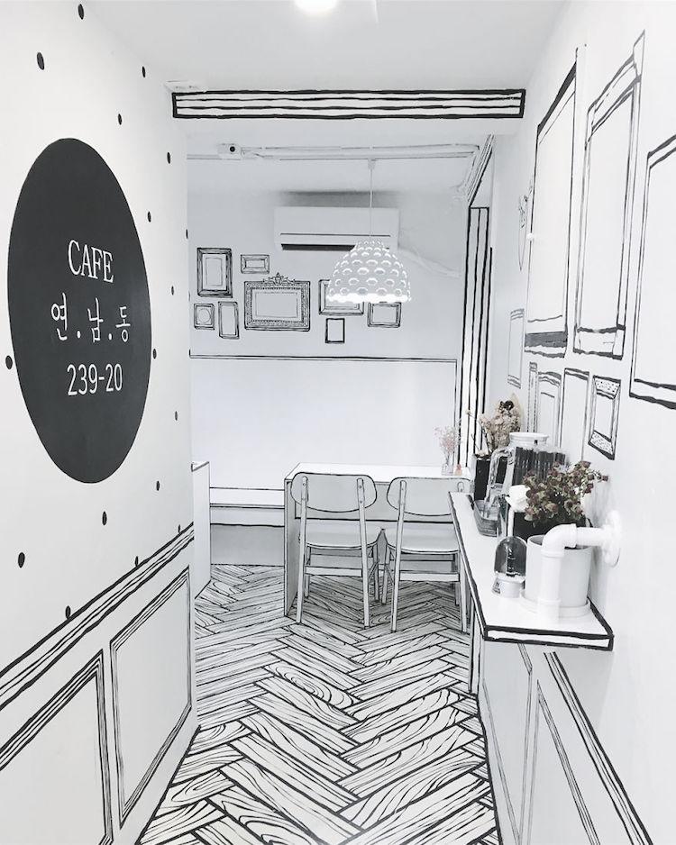 El café cómic de Seul