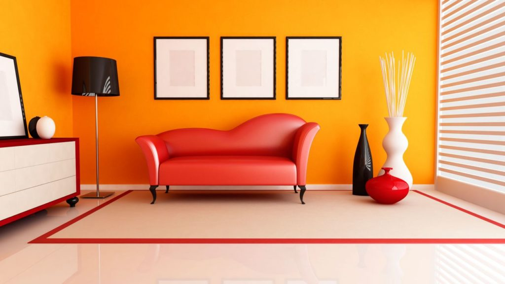 Decoración color naranja